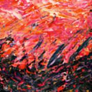 Bluegrass Sunrise - Crimson B-right Poster