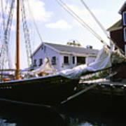 Bluenose II At Historic Properties Halifax Nova Scotia Poster