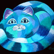 Blues Cat Poster