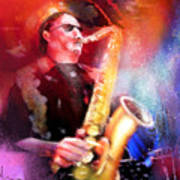 Blues Saxophonist Poster