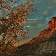 Bluffs Along The Saline River North Of Russell, Kansas. Poster