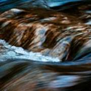 Blurred Cascades On The Autumn River Poster