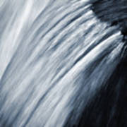 Blurred Detail For Falling Water Poster