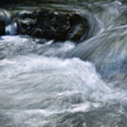 Blurred Detail Of A Mountain Stream Poster