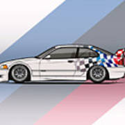 Bmw 3 Series E36 M3 Gtr Coupe Touring Car Poster