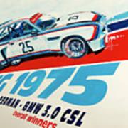 Bmw 3.0 Csl Sebring 1975 Peterson Redman Poster