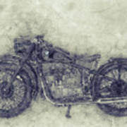 Bmw R32 - 1919 - Motorcycle Poster 1 - Automotive Art Poster