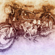 Bmw R60/2 - 1956 - Bmw Motorcycles 2 - Vintage Motorcycle Poster - Automotive Art Poster