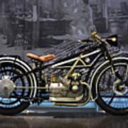 Bmw Vintage Motorcycle Poster