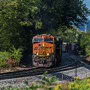 Bnsf Coming Around The Curve Poster