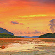 Boat At Sunset Poster by MotHaiBaPhoto Prints