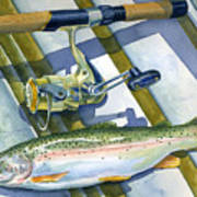 Boat Bottom Trout Poster by Mark Jennings