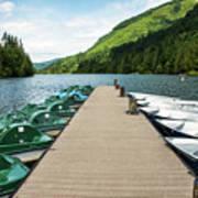 Boat Fun At Silver Lake Poster