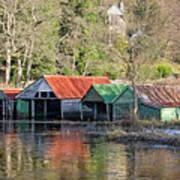 Boat Huts Poster