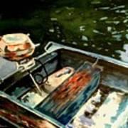 Boat In Fog 2 Poster