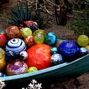 Boat Load Of Blown Glass Balls Poster