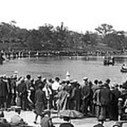 Boat Races In Central Park Poster