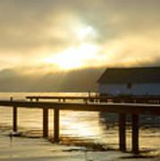 Boathouse Daybreak Poster