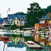 Boathouse Row In Philly Poster by Bill Cannon