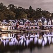 Boathouse Row Night Poster