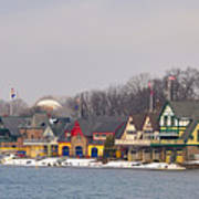 Boathouse Row On A Winter Morning Poster