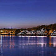 Boathouse Row Philly Poster