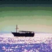 Boating Home Poster by Deborah MacQuarrie-Selib