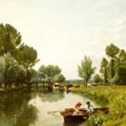 Boating On The Stour Poster