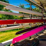 Boats At Dallas Rowing Club Poster