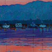 Boats At Dusk Poster