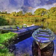 Boats At The Lake Poster
