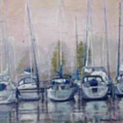 Boats In A Row Poster