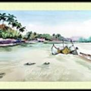 Boats In Beach Poster