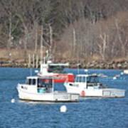 Boats In Rye Harbor Poster