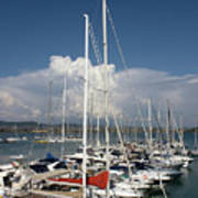 Boats In Port Tuscany Poster