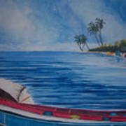 Boats In The Caribbean Poster