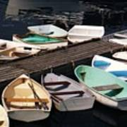 Boats In Waiting Poster