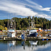 Boats In Winchester Bay Poster