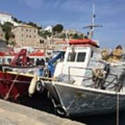 Boats On Hydra Poster