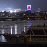 Boats On The Charles River Citgo Sign Boston Massachusetts Poster