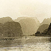 Boats On The River Tam Coc No2 Poster
