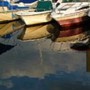 Boats Reflected Poster