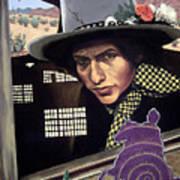 Bob Dylan Surreal Desert Poster