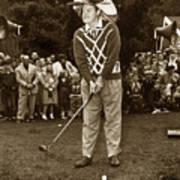 Bob Hope At Pro-am At Pebble Beach California 1953 Poster