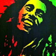 Bob Marley Smile Poster by Siobhan Bevans