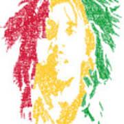 Bob Marley Typography  Poster by Jimi Bush