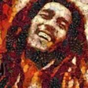 Bob Marley Vegged Out Poster