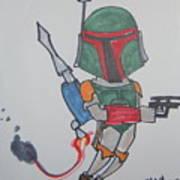Boba Fett Caricature Poster