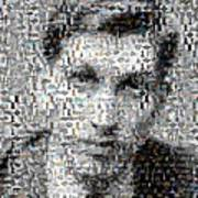 Bobby Fischer Chess Mosaic Poster by Paul Van Scott