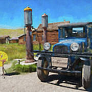 Bodie California Ghost Town Old Vintage Dodge Truck Ap Poster